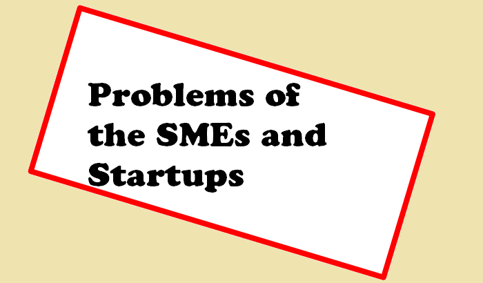 Problems of the SMEs and startups